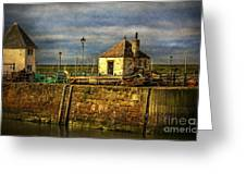The Harbour At Maryport Greeting Card