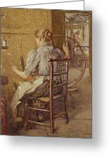 The Spinning Wheel  Greeting Card