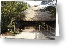 Tiki Hut  Greeting Card