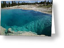 Turquoise Hot Springs Yellowstone Greeting Card