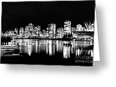 Vancouvers Silver Lining  Greeting Card