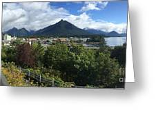 View From Top Of Castle Hill Sitka Alaska 2015 Greeting Card