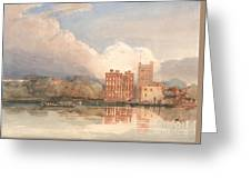 View Of Lambeth Palace On Thames Greeting Card