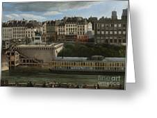 View Of The Seine Greeting Card