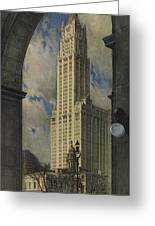 View Of The Woolworth Building Greeting Card