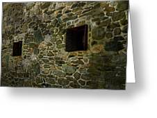 Vintage Stone Wall In Radnor  Pa Greeting Card