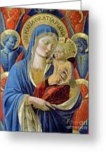 Virgin And Child With Angels Greeting Card