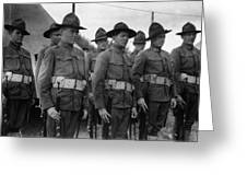 W Soldiers Standing Attention 19171918 Black Greeting Card