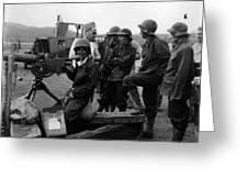 Wacs Learning Fire Machine Gun Circa 1943 Black Greeting Card