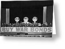 War Bond Rally Buy Bonds February 1944 Black Greeting Card