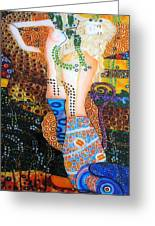 Water Serpents Reply By Gustav Klimt Greeting Card