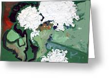 White Flowers  Greeting Card by Therese AbouNader