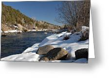 Winter On The Arkansas Greeting Card