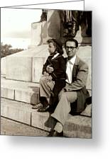With Dad On Mount Royal Greeting Card
