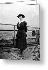 Woman Female In Naval Military Uniform 1918 Greeting Card