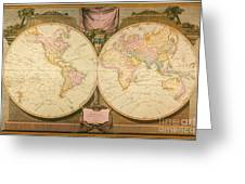 Captain Cook: Map, 1808 Greeting Card