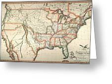 Map: United States, 1820 Greeting Card