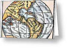 World Map, 1529 Greeting Card