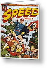 World War II: Comic Book Greeting Card