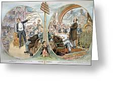 Business Cartoon, 1904 Greeting Card