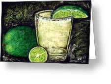 Tequila With Salt And Lime Greeting Card