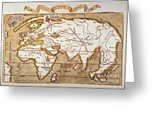 Waldseemuller: World Map Greeting Card
