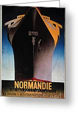 Steamship Normandie, C1935 Greeting Card