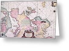 Map: European Coasts, 1715 Greeting Card