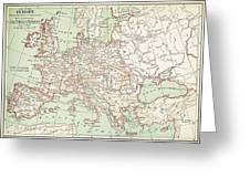 Map Of Europe, C1812 Greeting Card