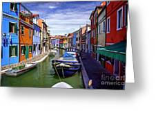 0045 Burano Colors 2 Greeting Card