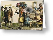 Cartoon: French War, 1798 Greeting Card