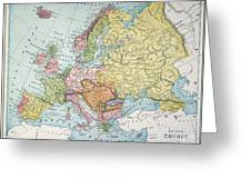 Map: Europe, 1885 Greeting Card