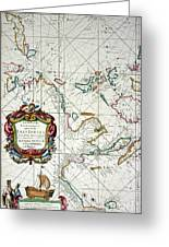 East Indies Map, 1670 Greeting Card