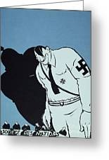 Adolf Hitler Cartoon, 1935 Greeting Card