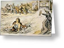 Free Silver Cartoon, 1890 Greeting Card