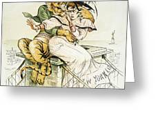 Political Cartoon Greeting Card