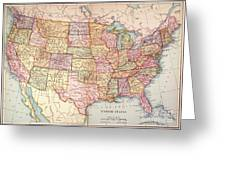 Map: United States, 1905 Greeting Card