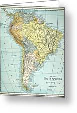 South America: Map, C1890 Greeting Card