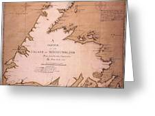Cook: Newfoundland, 1763 Greeting Card