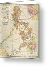 Map: Philippines, 1905 Greeting Card