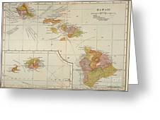 Map: Hawaii, 1905 Greeting Card