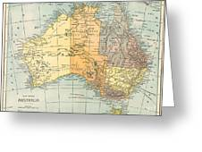 Map: Australia, C1890 Greeting Card