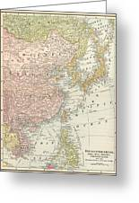 Map: East Asia, 1907 Greeting Card