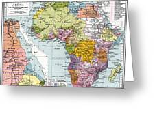 Partitioned Africa, 1914 Greeting Card