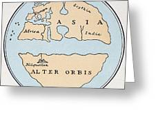 World Map, 1st Century Greeting Card