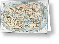 World Map 2nd Century Greeting Card
