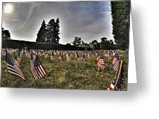 01 Flags For Fallen Soldiers Of Sep 11 Greeting Card