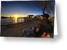 01 Me Sunset 16mar16 Greeting Card