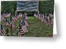 010 Flags For Fallen Soldiers Of Sep 11 Greeting Card