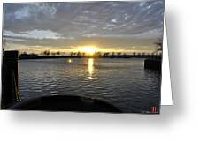 012 April Sunsets Greeting Card